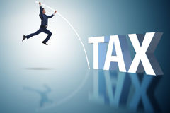 The businessman in tax evasion avoidance concept Stock Photos