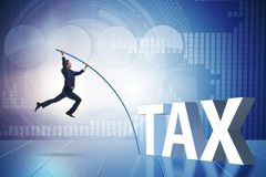 The businessman in tax evasion avoidance concept Stock Image