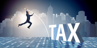 The businessman in tax evasion avoidance concept Stock Photo