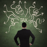 Businessman and tax problem Royalty Free Stock Images