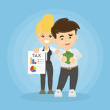Businessman with taxes. Stock Photos