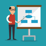 Businessman teach presentation work Royalty Free Stock Photo