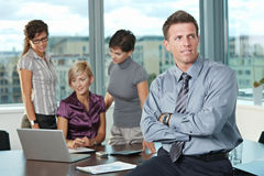 Businessman with team Royalty Free Stock Image