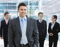 Businessman and team Royalty Free Stock Image