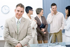 Businessman and team Stock Image
