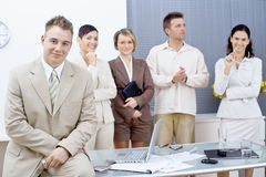 Businessman and team Royalty Free Stock Photo