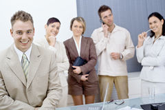 Businessman and team Royalty Free Stock Photography