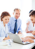 Businessman with team on meeting in office Royalty Free Stock Photography