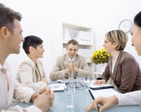 Businessman and team at office royalty free stock photography