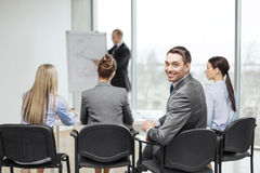 Businessman with team in office Royalty Free Stock Photos