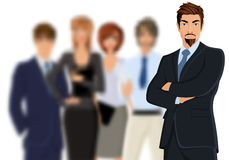 Businessman with team Stock Photography