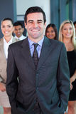 Businessman and team Stock Photo