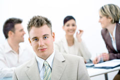 Businessman and team working Royalty Free Stock Image