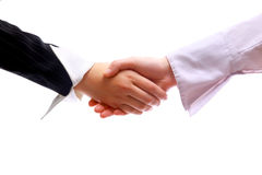Businessman teamwork. Partners shaking hands royalty free stock photos
