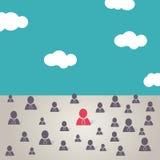 Businessman teamwork background  boss concept vector, vector illustration. EPS 10 Royalty Free Stock Images