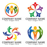 Businessman Teamwork Concept Logo Royalty Free Stock Images