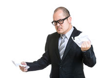 Businessman tear contract paper Royalty Free Stock Photography