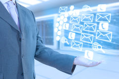Businessman technology. Businesman and internet technology concepts Stock Image