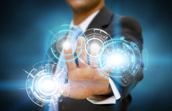 Businessman technology concept Royalty Free Stock Images