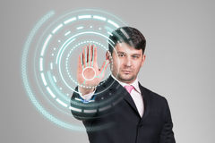 Businessman technology concept Stock Image