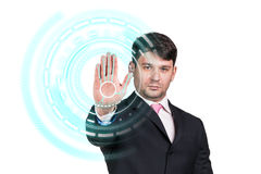 Businessman technology concept Royalty Free Stock Image