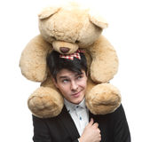 Businessman with Teddy Bear Royalty Free Stock Photography