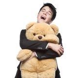 Businessman with Teddy Bear Stock Photo