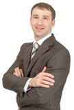 Businessman with teeth smile looking at camera Stock Photo