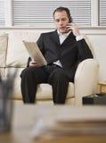 Businessman on Telephone Royalty Free Stock Photo