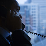 Businessman on Telephone Royalty Free Stock Images