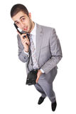 Businessman with telephone Royalty Free Stock Photo