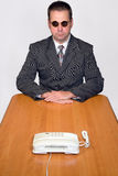 Businessman with telephone Royalty Free Stock Photos