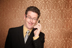 Businessman on a telephone call Stock Images