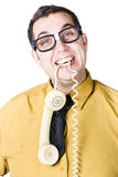 Businessman with telephone Stock Image