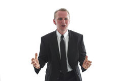Businessman in tense moment Royalty Free Stock Photos