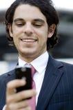 Businessman Texting Royalty Free Stock Photos