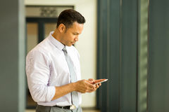 businessman texting Royalty Free Stock Image