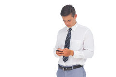 Businessman texting Stock Photos
