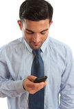 Businessman texting SMS Royalty Free Stock Photography
