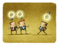 Businessman thing different Royalty Free Stock Image