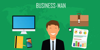 Businessman things and stuff Royalty Free Stock Image
