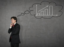 Businessman think about growth plans Stock Photo