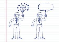 Businessman think idea Stock Images