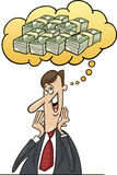 Businessman think about money Royalty Free Stock Images