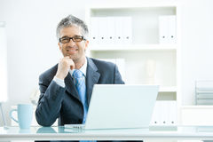 Businessman thinking Stock Image