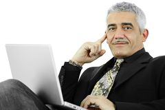 Businessman thinking Royalty Free Stock Photography