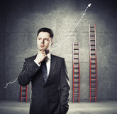 Businessman thinking Stock Images