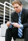 businessman thinking Στοκ φωτογραφία με δικαίωμα ελεύθερης χρήσης