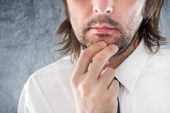 Businessman thinking Stock Image