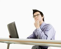 Businessman thinking. Royalty Free Stock Images